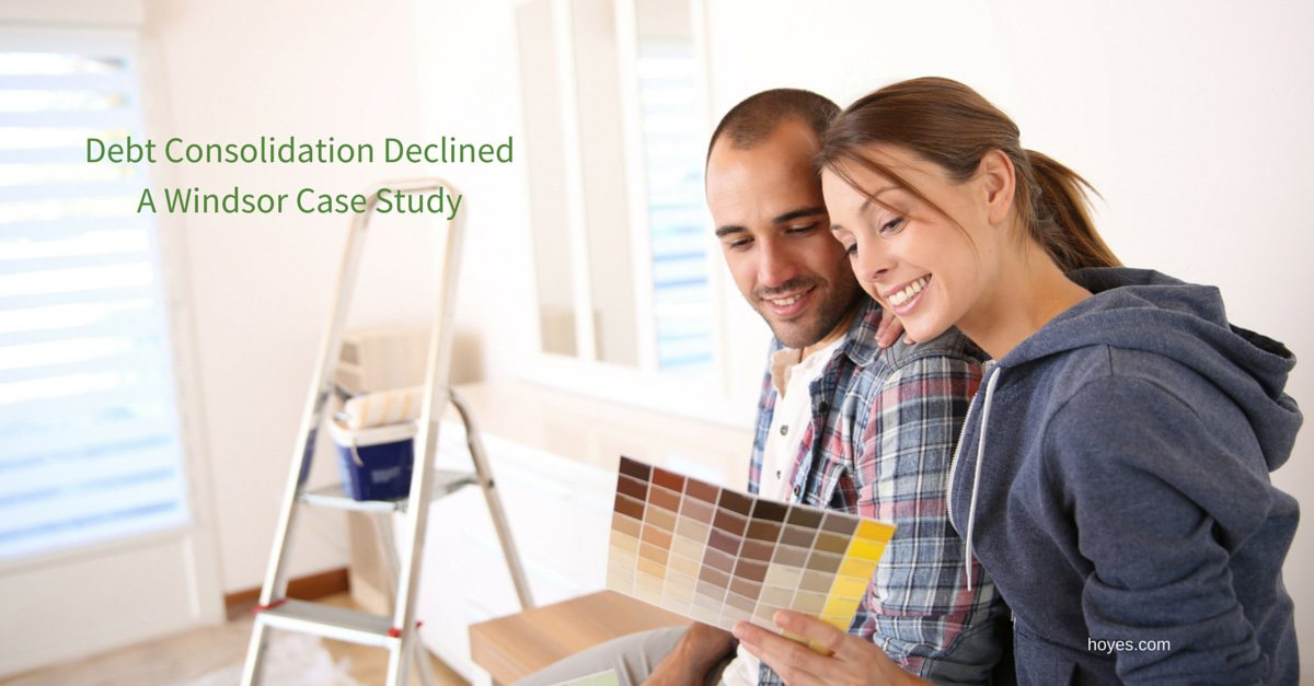 Turned Down For Debt Consolidation: A Windsor Case Study