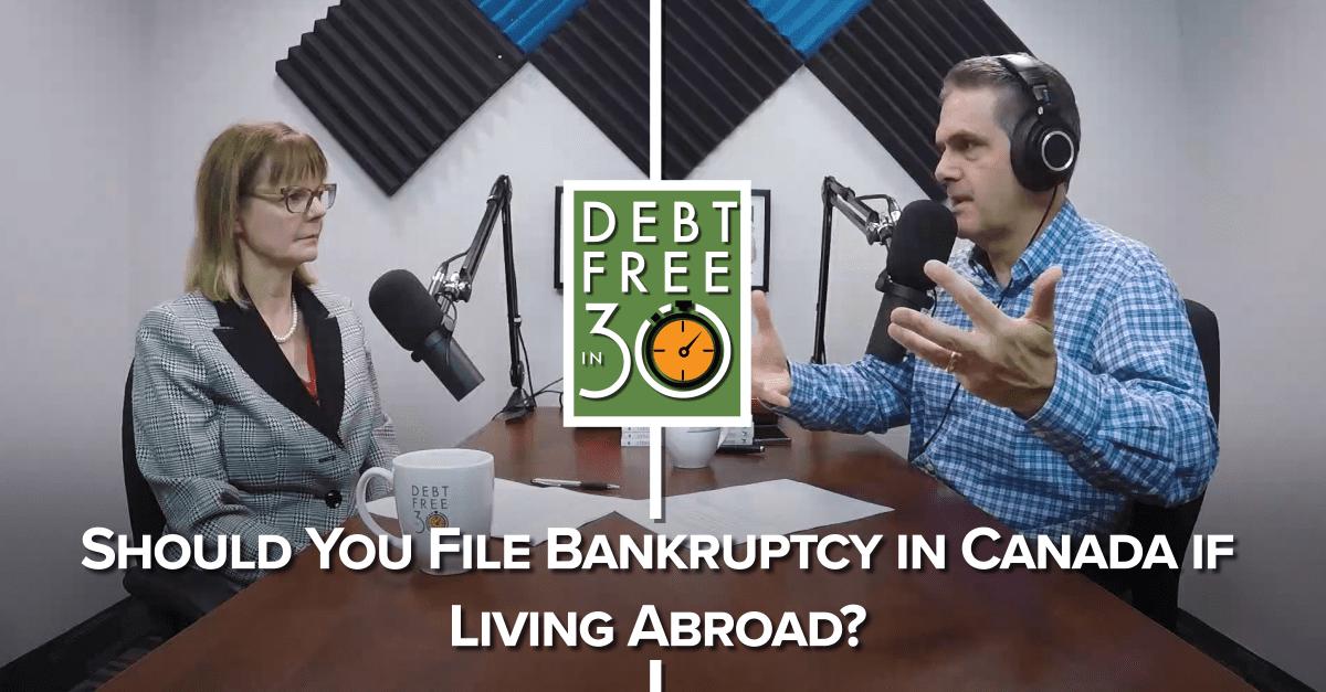 should you file bankruptcy for Canadian debt?