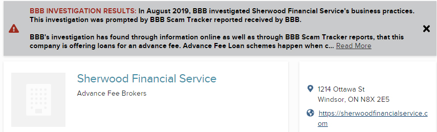 advanced fee loan scam