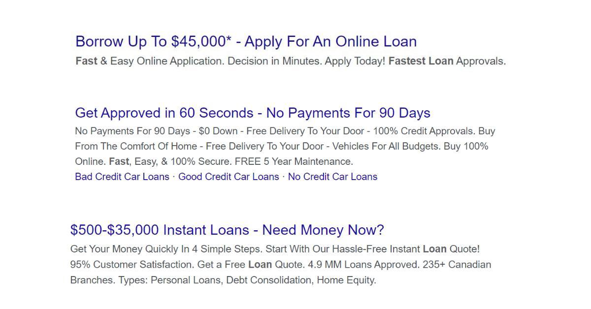 predatory instant loans