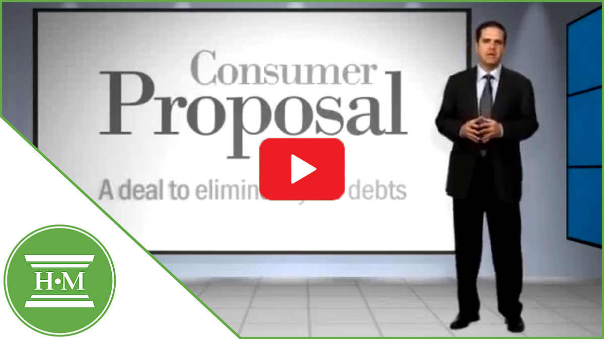 What is a consumer proposal video thumbnail