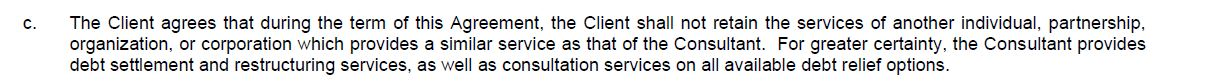 a clause in york credit contract